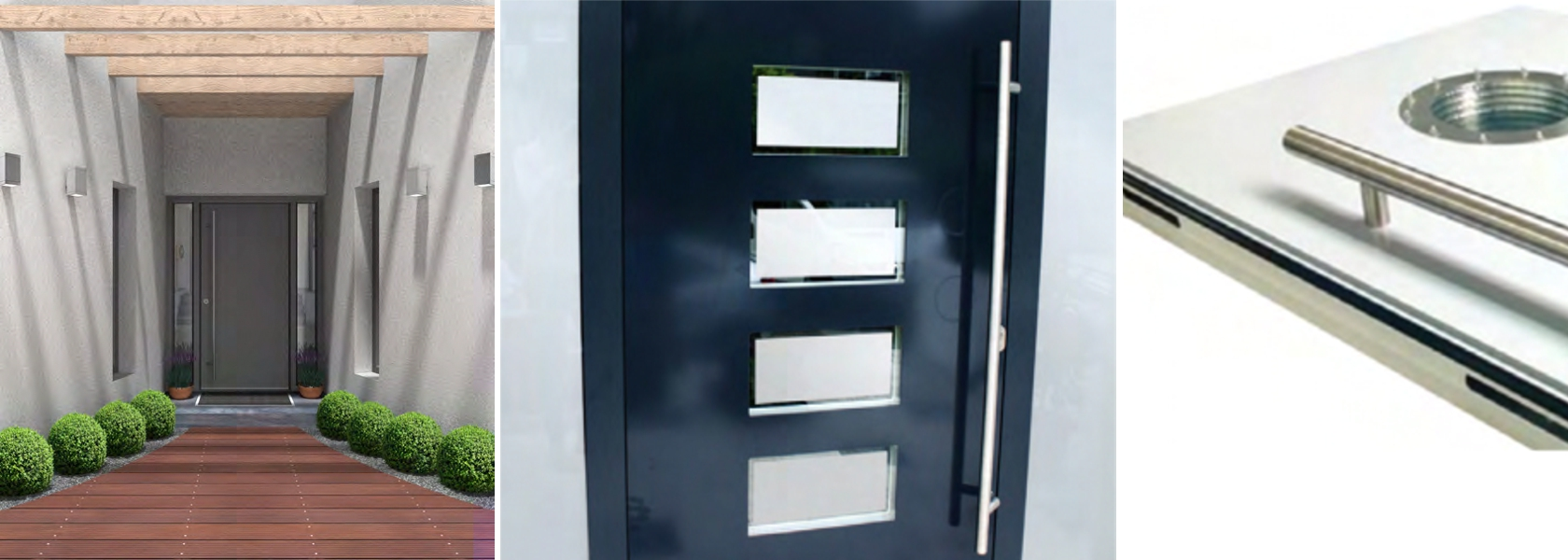 Front door flush panels