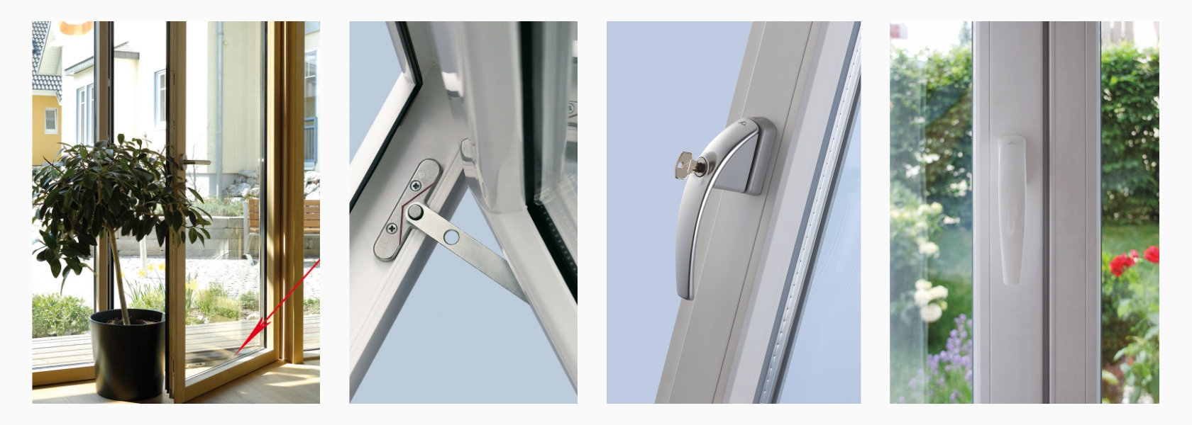 window pvc-u hardware parts