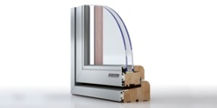 Aluclad timber windows offer advantages of both aluminium and wood.
