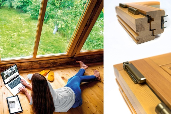 Wooden energy-efficient windows
